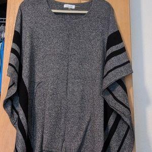 Calvin Klein knit poncho L/XL NWOT